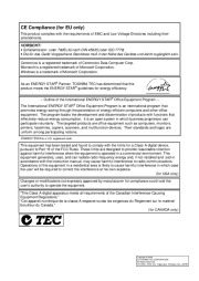 Toshiba TEC B-SX4T-QQ-QP Thermal Printer Owners Manual page 2