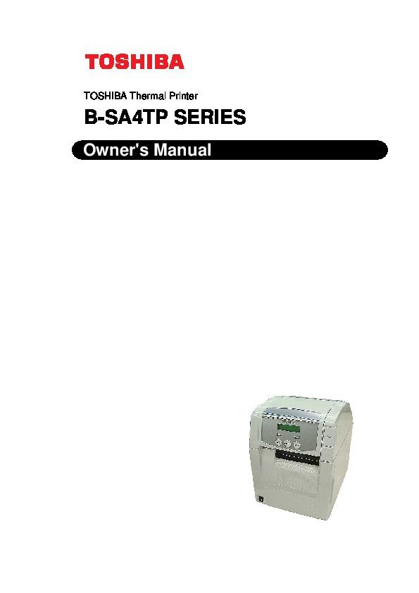 Toshiba-B-SA4TP-Thermal-Printer-Owners-M