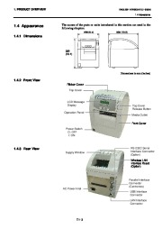 Toshiba B-SA4TP Thermal Printer Owners Manual page 11