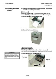 Toshiba B-SA4TP Thermal Printer Owners Manual page 21