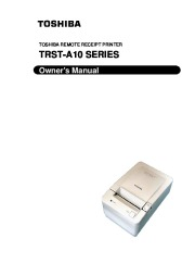 Toshiba TRST-A10 Remote Receipt Printer Owners Manual page 1