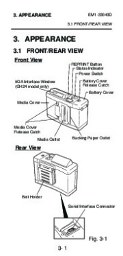 Toshiba TEC B-210 EM1-33043D Portable Printer Owners Manual page 21