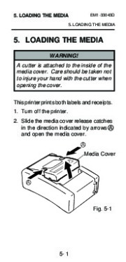 Toshiba TEC B-210 EM1-33043D Portable Printer Owners Manual page 27