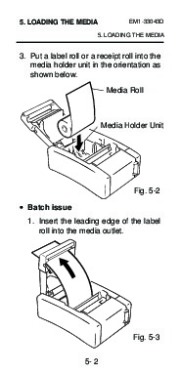 Toshiba TEC B-210 EM1-33043D Portable Printer Owners Manual page 28