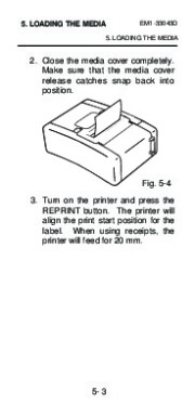 Toshiba TEC B-210 EM1-33043D Portable Printer Owners Manual page 29