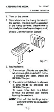 Toshiba TEC B-210 EM1-33043D Portable Printer Owners Manual page 34