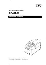 Toshiba TEC DRJST-51 Receipt Journal Printer Owners Manual page 1