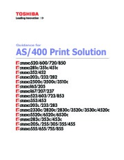Toshiba E-Studio 520 600 720 850 281c 351c 451c 352 452 AS 400 Printer Solution Owners Guide page 1