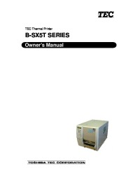 Toshiba TEC BSX5T Thermal Printer Owners Manual page 1