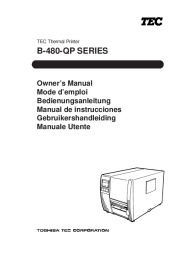 Toshiba TEC B-480-QP Printer Owners Manual page 1