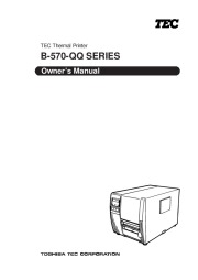 Toshiba TEC B-570-QQ Thermal Printer Owners Manual page 1