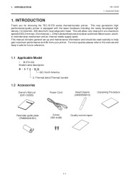 Toshiba TEC B-570-QQ Thermal Printer Owners Manual page 6