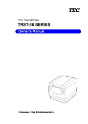 Toshiba TEC TRST-56 Thermal Printer Owners Manual page 1