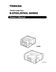 Toshiba TEC B-EP2DL B-EP4DL Portable Printer Owners Manual page 1