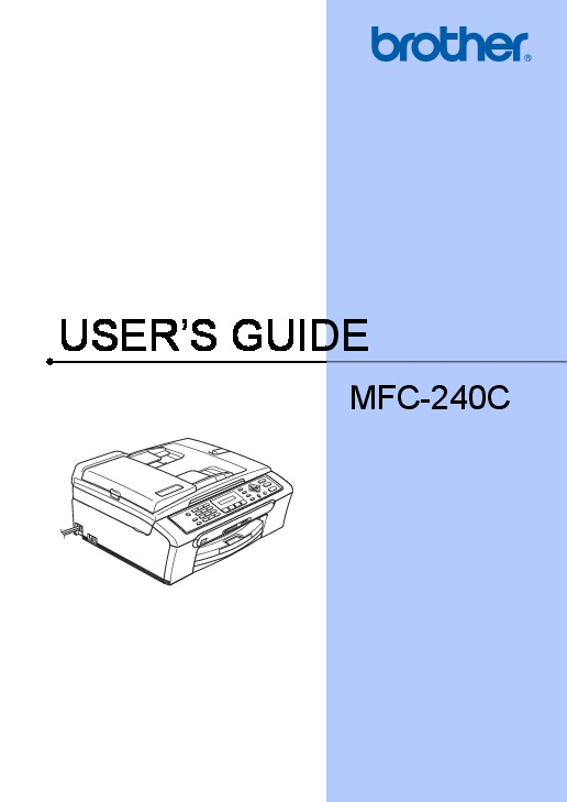 brother mfc 240c color inkjet all in one printer with fax users guide rh computer equipment filemanual com brother mfc 240c user manual brother mfc 240c printer manual