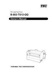 Toshiba TEC B-852-TS12-QQ Label Tag Printer Owners Manual page 1