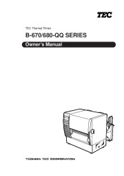 Toshiba B-670 QQ Thermal Printer Owners Manual page 1
