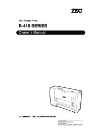 Toshiba TEC B-415 Printer Owners Manual page 1