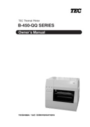 Toshiba TEC B-450-QQ Printer Owners Manual page 1