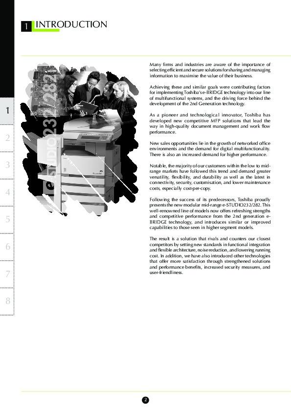 toshiba e studio 232 282 printer copier owners manual rh computer equipment filemanual com Samsung Copier Toshiba E Studio Copier
