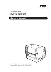 Toshiba TEC B-870 Thermal Printer Owners Manual page 1