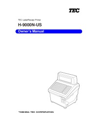 Toshiba TEC H 9000N US Label Receipt Printer Owners Manual page 1